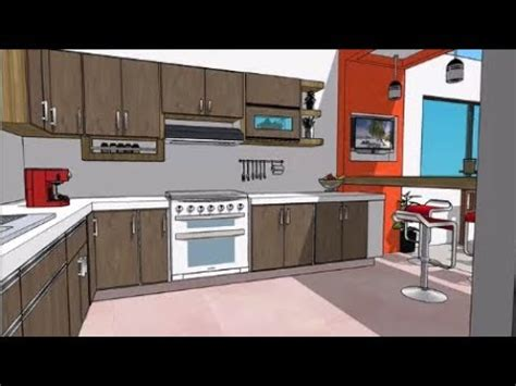 diseno de cocina  desayunador kitchen plans youtube
