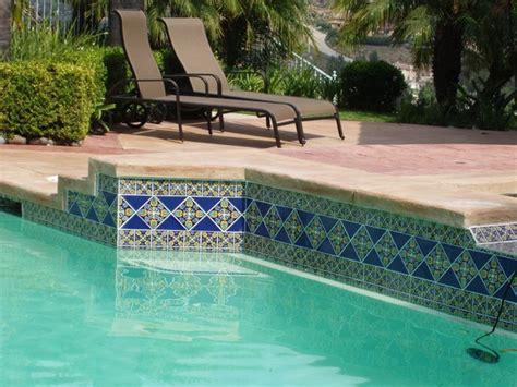 best pool tile spanish pool tile designs design inspirations home