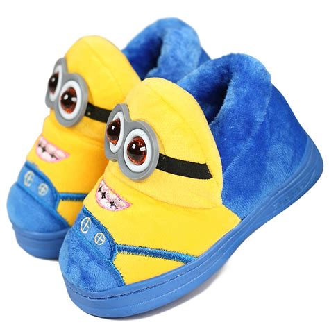 cartoon house shoes 2016 winter warm soft indoor floor slippers children shoes paw funny animal christmas