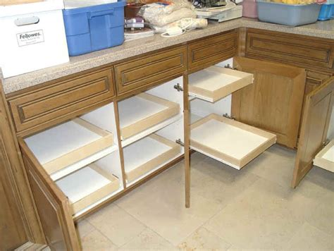 Sliding Drawers For Kitchen Cabinets by Kitchen Cabinet Organization Slide Outs Roll Outs
