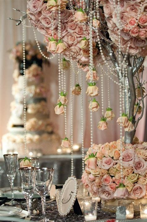 Vintage theme wedding decor   Diamonds and Pearls