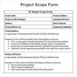 scope document template project 7 free for word pdf