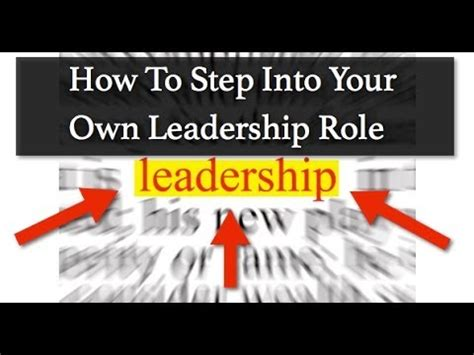 Steps Into Your by Leadership Step Into Your Own Leadership