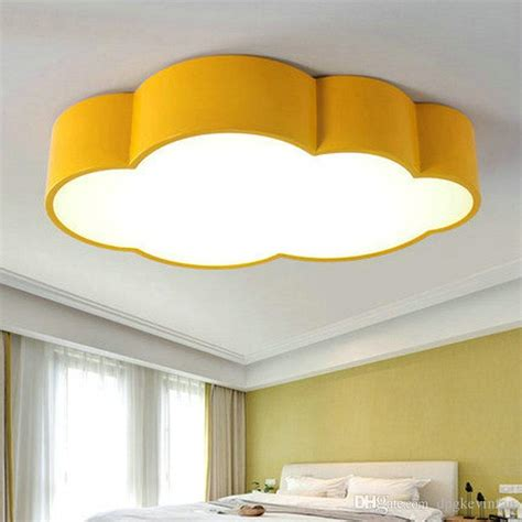 Childrens Bedroom Light Fixtures 2017 Led Cloud Room Lighting Children Ceiling L Baby Ceiling Light With Yellow Blue