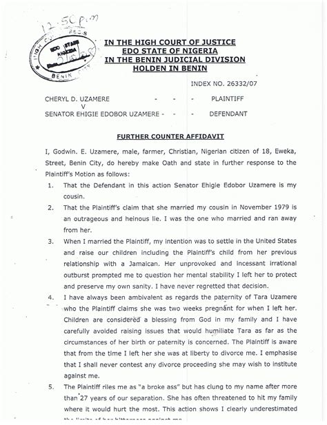 Marriage Letter Nigeria Talmudic Racial Corruption At Federal Court S Southern District