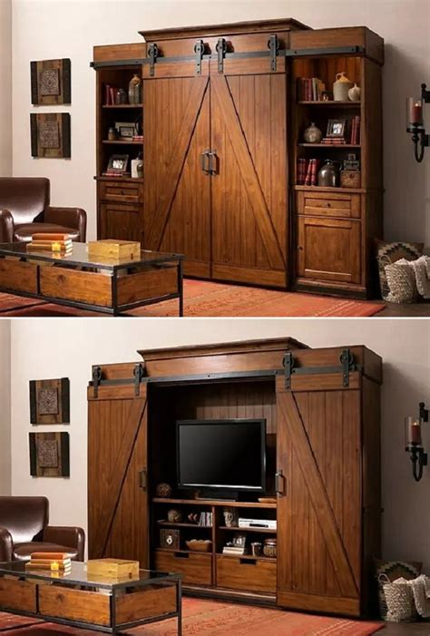 entertainment center cabinet doors open the barn doors for an entertainment center and them for a bookshelf brilliant
