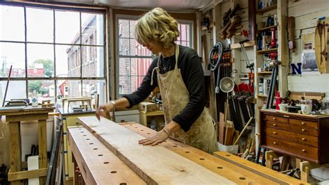 woodworking studio works with one furniture maker bucking the