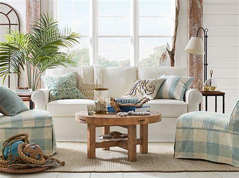 buchanan coastal living room pottery barn