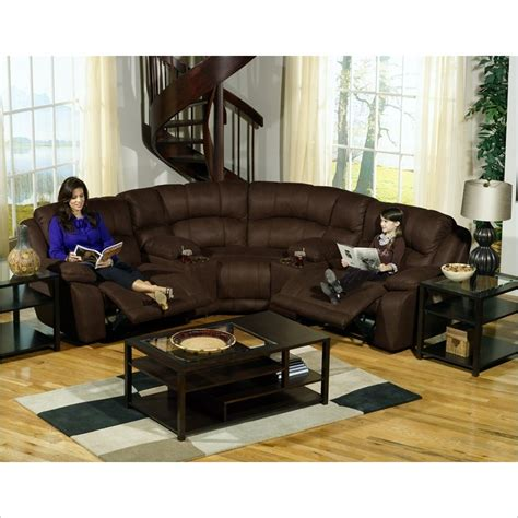 catnapper compass 5 sectional sofa in espresso 199 kit