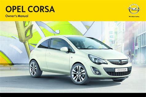 Manual Opel Corsa Opel Corsa D Owners Manual Page Pdf