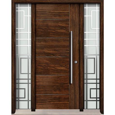 exterior fiberglass door single door with two glass