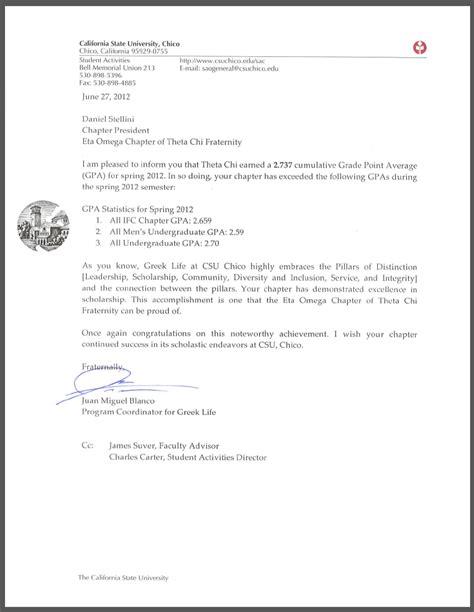 Acceptance Letter For Sorority Theta Chi Eta Omega Chapter