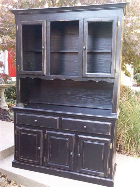 distressed china cabinet black distressed china cabinet diy projects to try