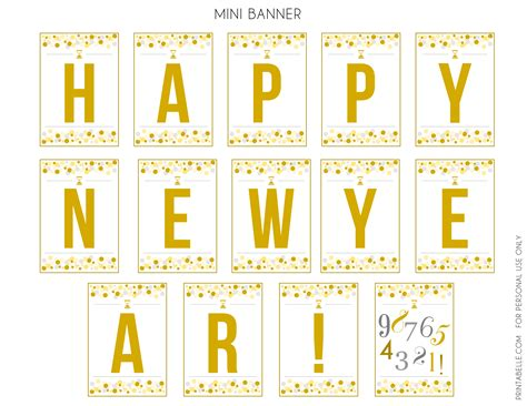 free printable banner happy new year happy new year s eve 2014 best free party printables for nye
