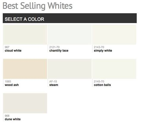best selling paint best selling popular shades of white ivory light