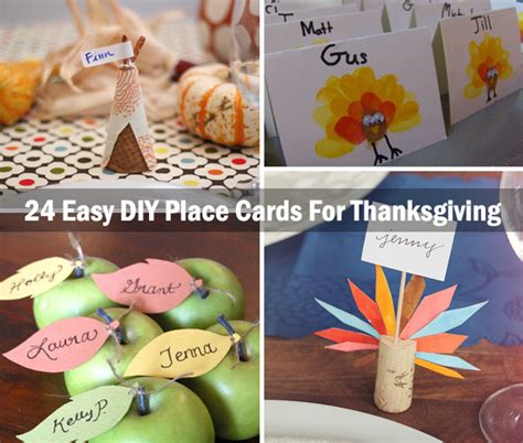 thanksgiving place cards for to make 24 easy diy ideas for thanksgiving place cards 2015
