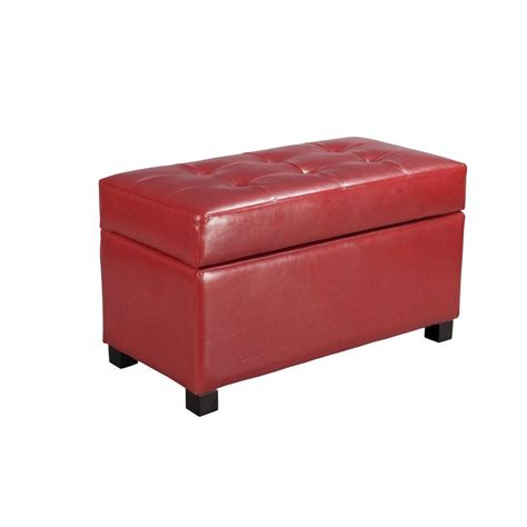 red storage ottomans ospdesigns red storage ottoman met804rd the home depot
