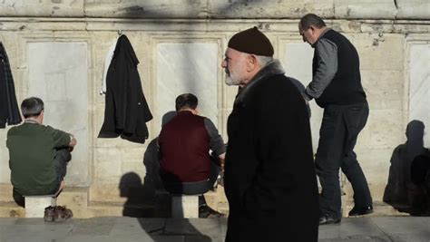 istanbul turkey december 24 2014 muslim men preparing