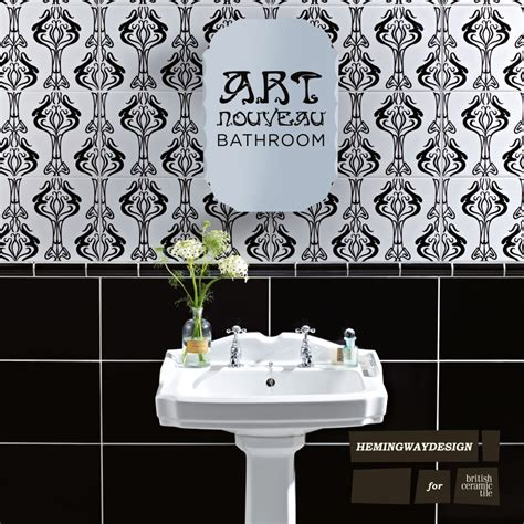 art nouveau bathroom tiles 30 great pictures and ideas art nouveau bathroom tiles