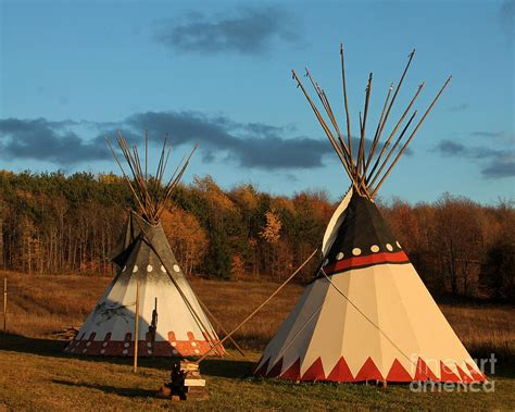 tende indiane american tepee s in fall photograph by deborah smith
