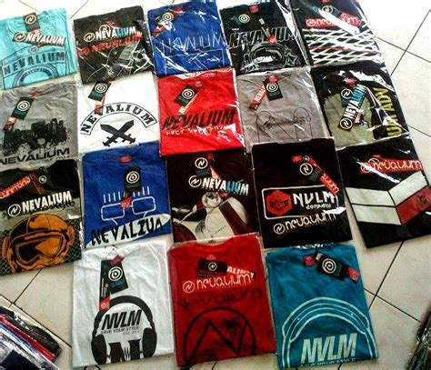 grosir kaos distro 100 original brand terlaris nevalium