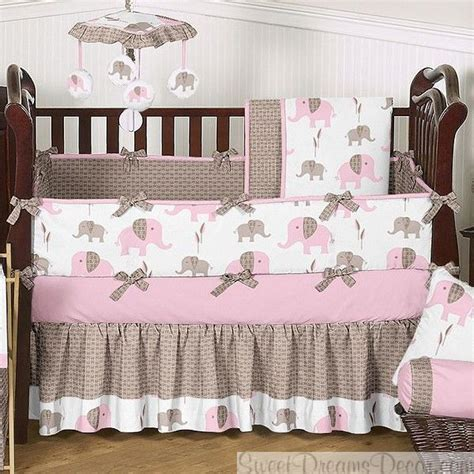 elephant pink 9 baby crib bedding set baby