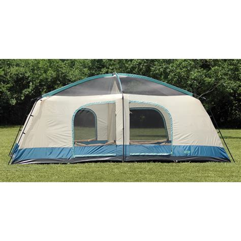 cabin tents texsport 174 blue mountain 2 room cabin dome tent 293799