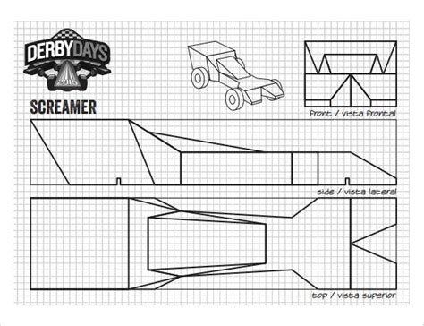 pinewood derby race car templates 25 pinewood derby templates for cars design printable