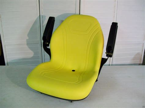 lawn mower seats with armrests yellow seat with armrests for deere xseries garden