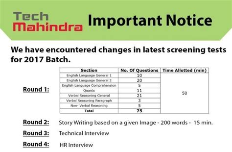 test pattern of tech mahindra how to prepare for tech mahindra online test quora