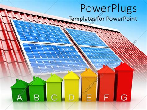 powerpoint themes roof powerpoint template red roof with solar panels on it and