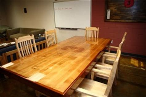 custom firehouse kitchen table at 3 where the