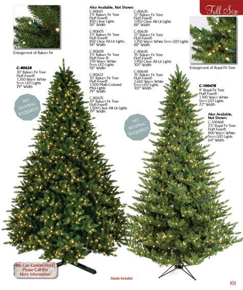 full line christmas trees
