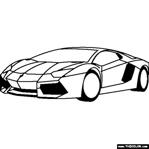 Lamborghini Outline Free Coloring Pages Thecolor