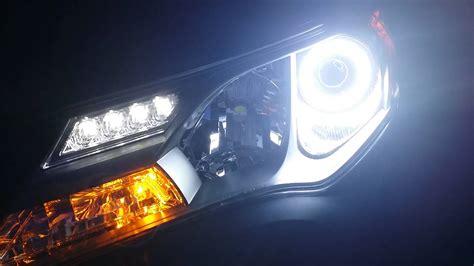 2016 toyota rav4 xle led lights 2013 rav4 led drls and halos youtube