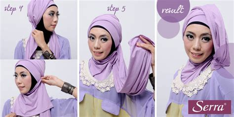 tutorial kerudung pesta 2 warna fashion tutorial hijab warna warni 4 in 1 cantik dan