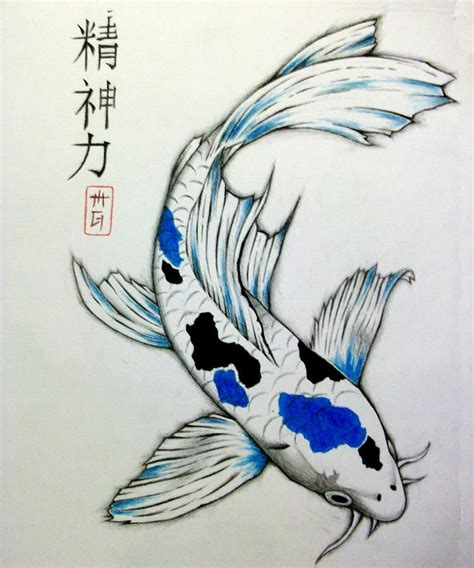 Drawing Koi Fish by Koi Drawings Suche Crafts Pinte