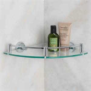 bristow tempered glass corner shelf bathroom shelves