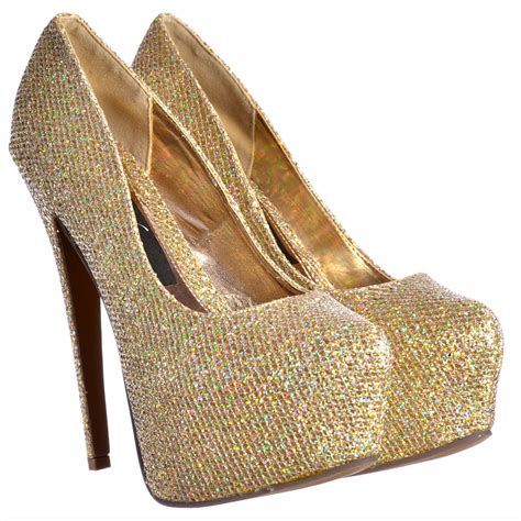 high heels gold shoes shoekandi sparkly gold glitter shimmer high heel stiletto
