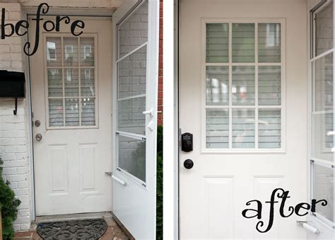 front door before and after shut the less than average height