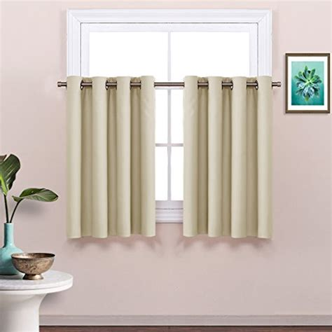 blackout tier curtains nicetown grommet thermal insulated blackout curtain one