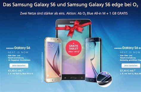 Samsung Galaxy S6 Mit Tablet by Samsung Galaxy S6 Edge Mit Top Vertrag O2 Tablet Kostenlos Dazu Mobil Ganz Einfach De