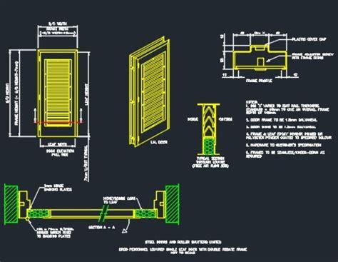 Dumpster Enclosure by Louvered Door Amp Frame Details Cad Files Dwg Files