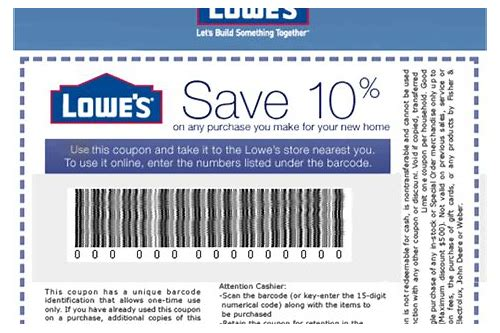 lowes 10 off coupon 2018