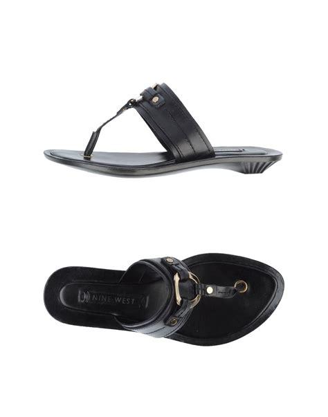 black clog sandals nine west flip flops clog sandals in black lyst