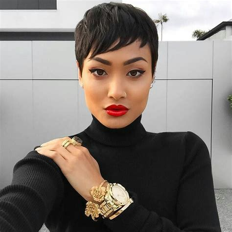 newest pixie hairstles for an olive skin black woman 25 gorgeous black pixie haircut ideas on pinterest