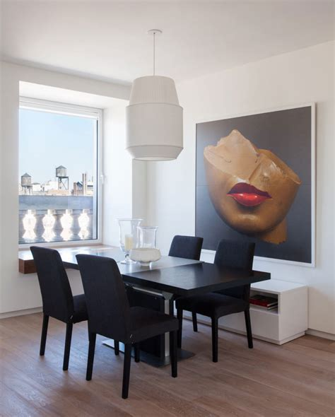 Large Wall For Dining Room by Large Dining Room With A Beauitful Portrait Wall