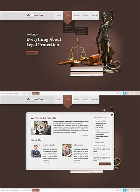 Lawyer Html5 Template Lawyer Web Templates