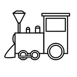 drawing a cartoon train