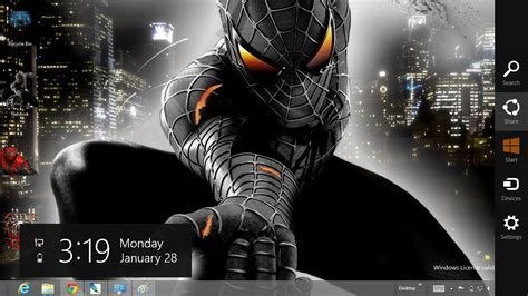 download themes for windows 7 spiderman download gratis tema windows 7 black spiderman 3 theme